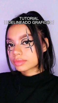 Creative Makeup, Simple Makeup, Makeup Art, Beauty Makeup, Grunge Makeup, Natural Eye Makeup, Halloween Makeup, Makeup Looks, Eyeliner
