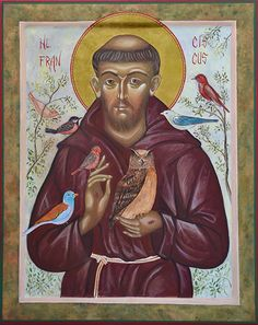 Iconen galerie, icoon van Johannes de Voorloper Francis Of Assisi, St Francis, Clare Of Assisi, Russian Orthodox, Orthodox Christianity, Christian Living, Mystic, Meditation, Prayers