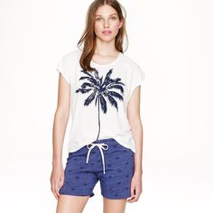 J.Crew Special Edition Embroidered Palm Tree short J.Crew Special Edition Shorts bnwt still in bag and sold out! Embroidered palm trees! These run a touch bigger ;) price firm -no returns J. Crew Shorts