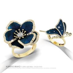 """A collection inspired by """"Capri Azzurra"""" Treasure island of Italy.. One of the most impressive place on earth, where you can forget everything and dip into the magic of blue.  #capriazzura #robertobravo #bravorobertobravo #inspiringjewellery #iloverb #diamonds #gold #handmade #nature #inspiringday #art #extraordinary #jewellery #ювелир #золото #алмаз #бриллианты #ручнойработы #экстраординарный #loveisblue #enamel #firedenamel #artbyrobertobravo #artbyrb"""