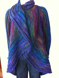 Coat of Many Colors, new kit in Mountain Colors Twizzle, 9 shades. Trunk show piece, could land at a yarn store near you!