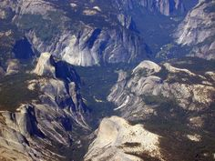 Yosemite Valley seen from the east at 26,0000 feet. ©Ron Reiring