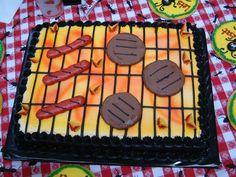 Blatt Kuchen alles in Buttercreme. Ich habe den Kuchen mit dem Airbrush geb… sheet cake all in buttercream. I brushed the cake with the airbrush … – Cakes – cream Easy Cake Decorating, Cake Decorating Techniques, Cake Icing, Cupcake Cakes, Buttercream Cake, Sheet Cakes Decorated, Sheet Cake Designs, Bbq Cake, Birthday Sheet Cakes