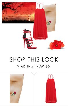 """""""rosso di sera..."""" by tiziana-enrico on Polyvore featuring moda e Alice + Olivia"""