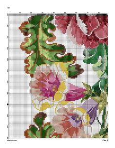 9 (541x700, 191Kb) Cute Cross Stitch, Cross Stitch Flowers, Cross Stitch Charts, Cross Stitch Patterns, Beaded Embroidery, Cross Stitch Embroidery, Holiday Crochet Patterns, Cross Stitching, Blackwork