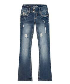 Another great find on #zulily! Dark Wash Dylan Bootcut Jeans - Plus #zulilyfinds