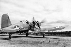 Chance-Vought F4U-1 on Guadalcanal.