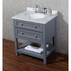 "dCOR design Albia 30"" Single Modern Bathroom Vanity Set with Mirror"