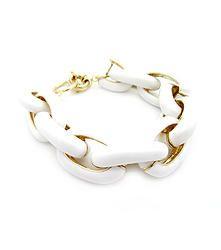 Little Links White - Simple link bracelet in pastel white