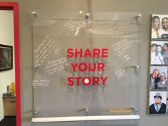 Some of the messages people have left at the space in the Chicago- Could use plexiglass for collaborative student work Interactive Exhibition, Interactive Walls, Interactive Installation, Interactive Design, Interactive Display, Office Wall Design, Office Walls, Office Decor, Id Digital