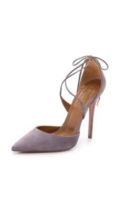 b9c85bc25d7 Aquazzura Mathilde Suede Pumps Fancy Shoes