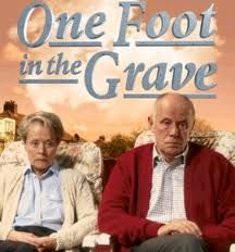 """One Foot In The Grave"" - My all-time favorite British comedy. Every time I watch this, I laugh until I'm sick. British Tv Comedies, Classic Comedies, British Comedy, British Actors, Bbc Tv, Old Shows, Comedy Tv, Great Tv Shows, Television Program"