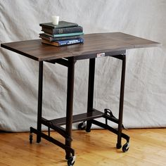 These vintage typewriter carts are perfect for a lap top or for an apartment dining table / office.