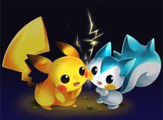 Pikachu and Pachirisu