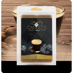 This aroma of freshly brewed coffee beans, is combined with creamy vanilla and a base note of hazelnuts. It is a warm welcome to get the morning going or a quiet evening with friends.    ​Jumbo 5.5oz package of 6 scented wax tarts - 100% all natural soy wax tart. Jewelry hidden in every package of scented wax tarts. Up to 60 hours of fragrance. Great for your tart warmer, candle warmer, potpourri pot or Scentsy warmers. Requires a warmer to melt the wax.