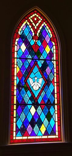 Stained glass - A church window in la
