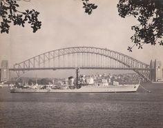HMAS Anzac, Sydney, 1954