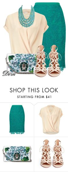 Senza titolo #6460 by doradabrowska on Polyvore featuring Miss Selfridge, Jacques Vert, Aquazzura, Dolce&Gabbana and Humble Chic