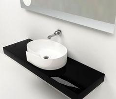 ROLL BASIN - Designer Wash basins from Ceramica Flaminia ✓ all information ✓ high-resolution images ✓ CADs ✓ catalogues ✓ contact information. Bathroom Renos, Rolls, Room Decor, Furniture, Basins, Bath Room, Design, White People, Black