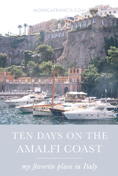 10 Days on the Amalfi Coast, Italy | A travel guide for my favorite place in Italy, with a custom travel map. Things to do, fashionable outfit ideas, the best food and my favorite views! | The perfect place to honeymoon in Italy. | Positano, Sorrento, Capri, Amalfi, Atrani, and Ravello | When to Visit | How to get to Positano | Day Trips on the Amalfi Coast
