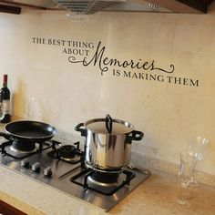 The best thing about memories is making them - vinyl wall decal lettering art design $16.95