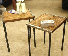 mesitas auxiliares madera-hierro@hotmail.com Somos muebles diferentes