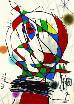 Artwork by Joan Miró, Aus: Passage de l'Egyptienne, 1985., Made of Colour etching