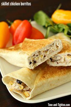 skillet-chicken-burritos