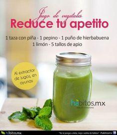 JUGO+DE+VEGETALES+REDUCE+TU+APETITO #habitosmx