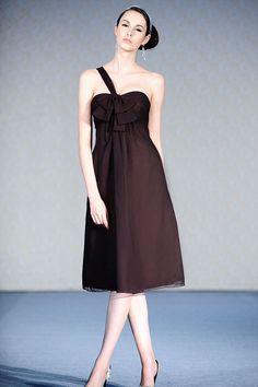 One shoulder chiffon bridesmaid dress with empire waist bridesmaids 397bac16f71b