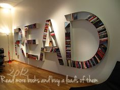 Someday I would love to have a library.. in my future house and I would love this on the wall!