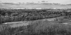 Black and White Canadian Nature, Calgary, Mountains, Black And White, Landscape, Park, Silver, Travel, Image