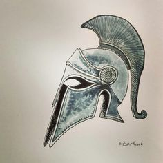 Tattoo Sketches, Drawing Sketches, My Drawings, Sketching, Spartan Helmet Tattoo, Greece Drawing, Wood Carving Patterns, Carving Designs, Dandelion Drawing