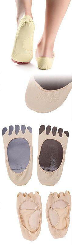 Sporealth Yoga Socks Fleshcolor Silk Yoga Socks Premium Yoga Socks Non Slip, Pilates Socks Toeless, Barre Socks Ballet Style, Hot Yoga Socks #yogasocks