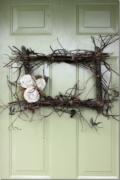twig wreath -  I think this one HAS to be made