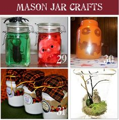 Mason Jar Ideas: Website: Tonya Staab -   29. Specimen Jar for Halloween  These specimen jars   - What you need:    jars  water  food color  bugs or body parts  How to make:    Fill the jar about 3/4 with water.   Add a couple of drops of food  color  Pop in your specimen  Done! #Yumm