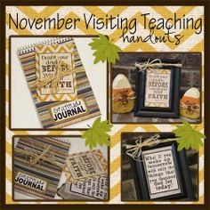 November 2013 LDS Visiting Teaching Handout- Free Gift-Paper Goods  lds  visiting teaching  visit teach  relief society  young womens  kit  handout  print  religious  November gratitude  thanksgiving  journal