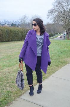 Alicia Fashionista rocks bright colors as the weather gets cooler.