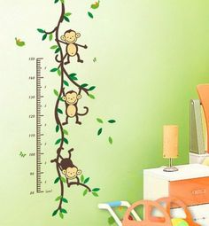 Marvelous Wandtattoos Affen u Baum Growth Chart Ma band Messlatte Wandsticker Geschenk Bogen Gr