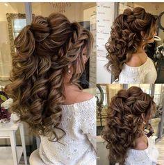 Haircut Long Medium Length Hair Cuts For Women Quince Hairstyles, Wedding Hairstyles For Long Hair, Wedding Hair And Makeup, Formal Hairstyles, Bride Hairstyles, Bridal Hair, Cool Hairstyles, Hairstyle Wedding, Easy Hairstyle