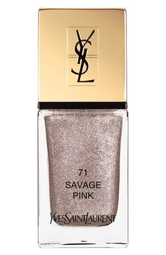 Yves Saint Laurent Nail Lacquer in Savage Pink, new for summer 2016 Savage Summer collection