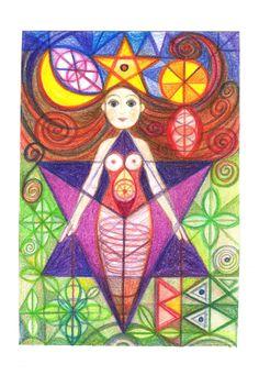 ☽O☾ The Goddess Within - pagan novel by Iva Kenaz - moods ☽O☾ Ivana Axman art www.ivana-axman.com