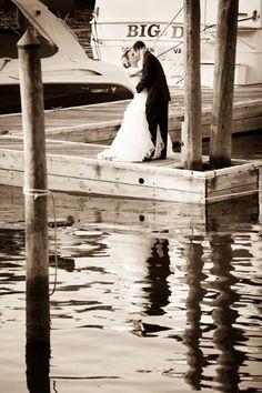 A perfect wedding portrait opportunity at Harbour View! A great venue for a nautical wedding. {Harbour View}