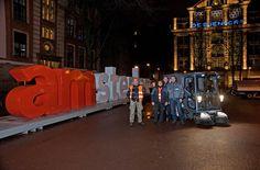 Barredora vial eléctrica Tennant 500ze en Amsterdam. Innovación al servicio de una limpieza con cero emisiones y sin ruido
