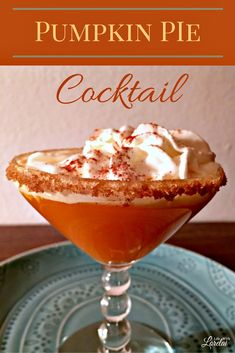 Looking for something special to serve this Thanksgiving? This Pumpkin Pie Cocktail is sure to put some cheer and celebration into the day's festivities!