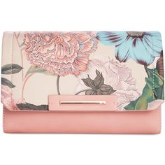 Danielle Nicole Morgan Clutch ($48) ❤ liked on Polyvore featuring bags, handbags, clutches, floral, vegan leather purses, holiday purse, faux leather purses, evening purses and vegan handbags