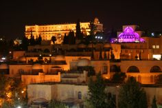 Jerusalem at night - 7 - King David hotel & Mishkenot Sha'ananim