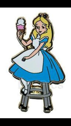 DSF Disney ALICE IN WONDERLAND Pin Trader's Delight GWP Ice Cream Sundae PTD