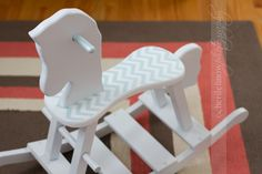 chevron pattern rocking horse