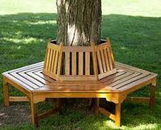 ceder bench around tree - Google Search